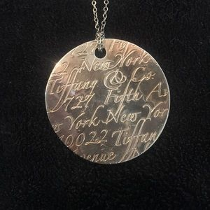 Tiffany & Co. Notes Fifth Ave Pendant Necklace
